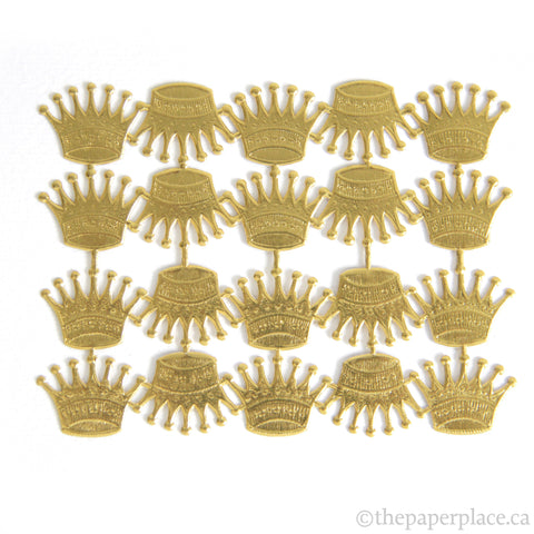Dresden Trim - Crowns - Double-Sided Gold