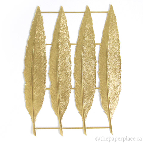 Dresden Trim - Feather - Double-Sided Gold