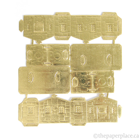 Dresden Trim - Gingerbread House - Single-Sided Gold