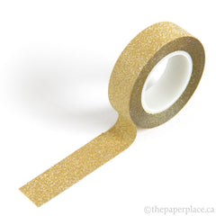 Gold Glitter Washi Tape - 15mm