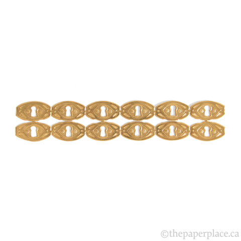 Dresden Trim - Keyhole - Single-Sided Gold