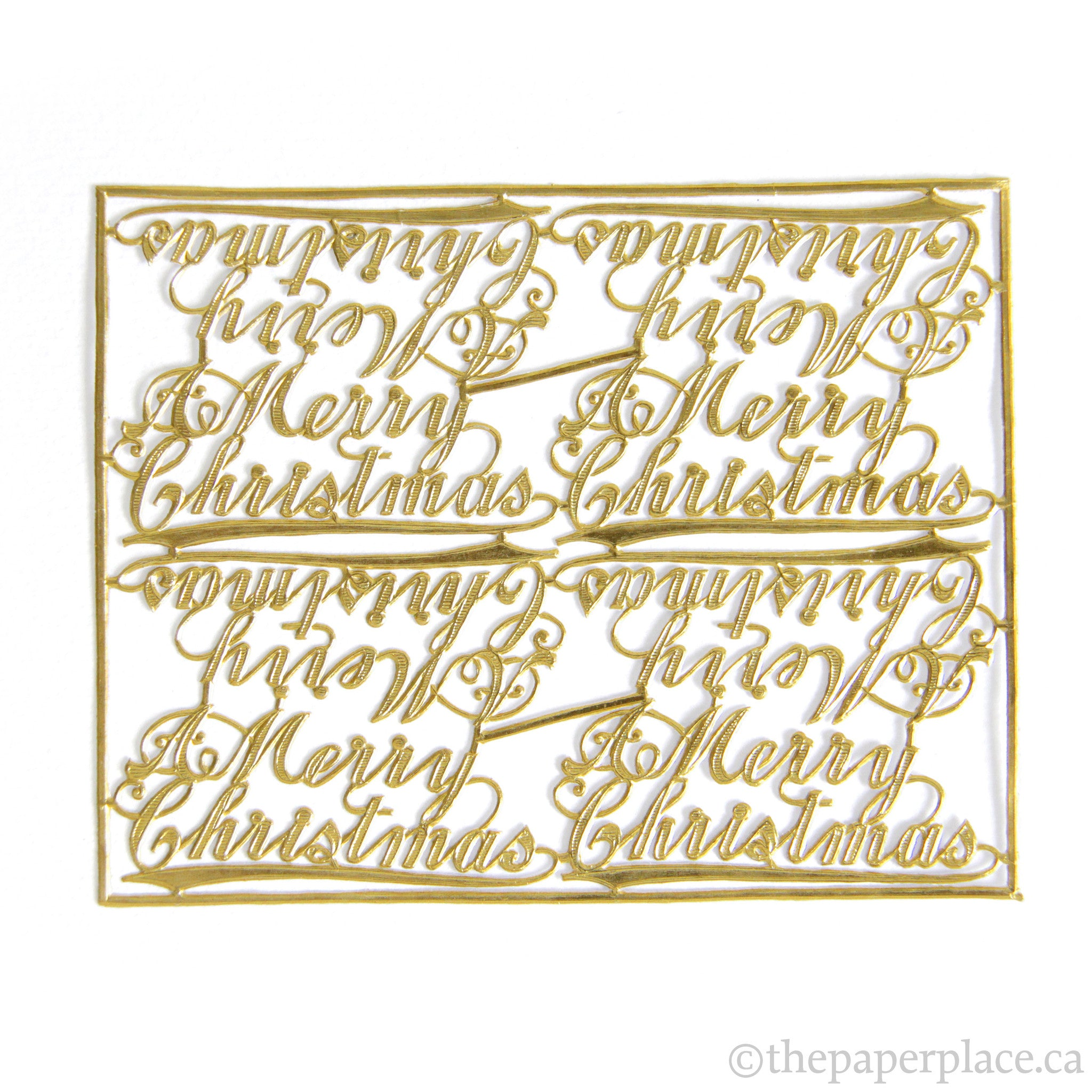 Dresden Trim - Merry Christmas - Single-Sided Gold