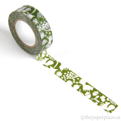 Green Forest of Squirrels Washi Tape - 15mm