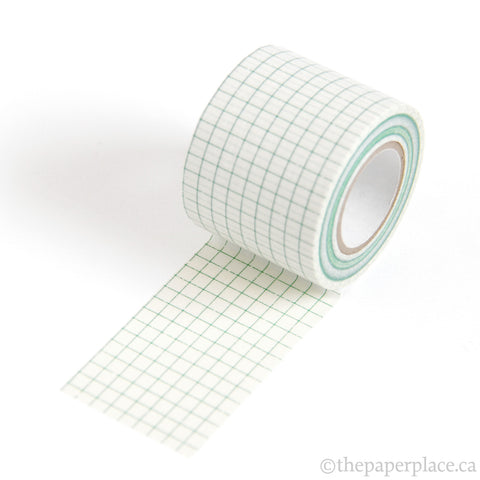 Green Grid Washi Tape - 45mm