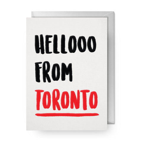 Hellooo from Toronto Single Card
