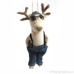 Holiday Hipster Ornament - Reindeer