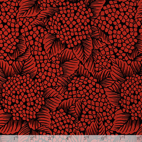 Lacquered Yuzen - Hydrangea Red Full/Half Sheet