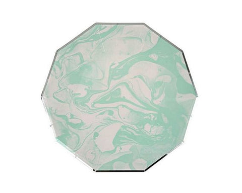 Mint Marble Plates (Small)