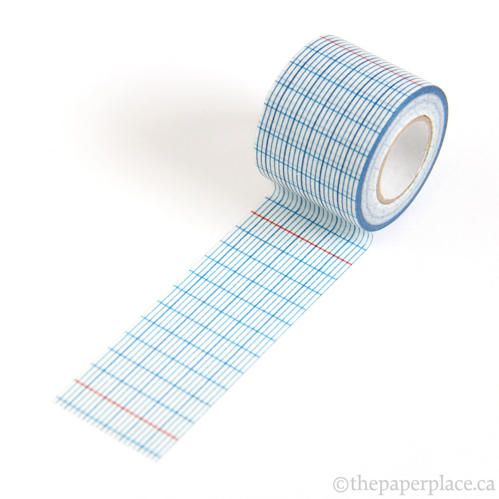 Indigo Grid Washi Tape - 45mm
