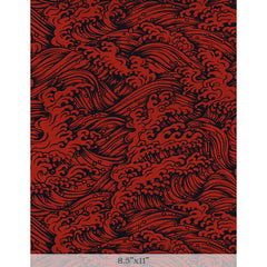 "Lacquered Yuzen - Konami Red Sample 8.5"" x 11"""