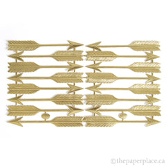 Dresden Trim - Large Arrow - Double-Sided Gold