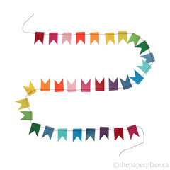 Mini Flag Garland - Rainbow