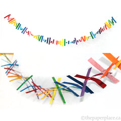 Multi Colour Strips Garland