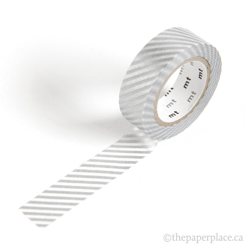 Narrow Silver Stripe Washi Tape - 15mm
