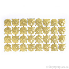 Dresden Trim - Owl - Single-Sided Gold