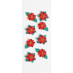 Little B Mini Holiday Poinsettia Stickers