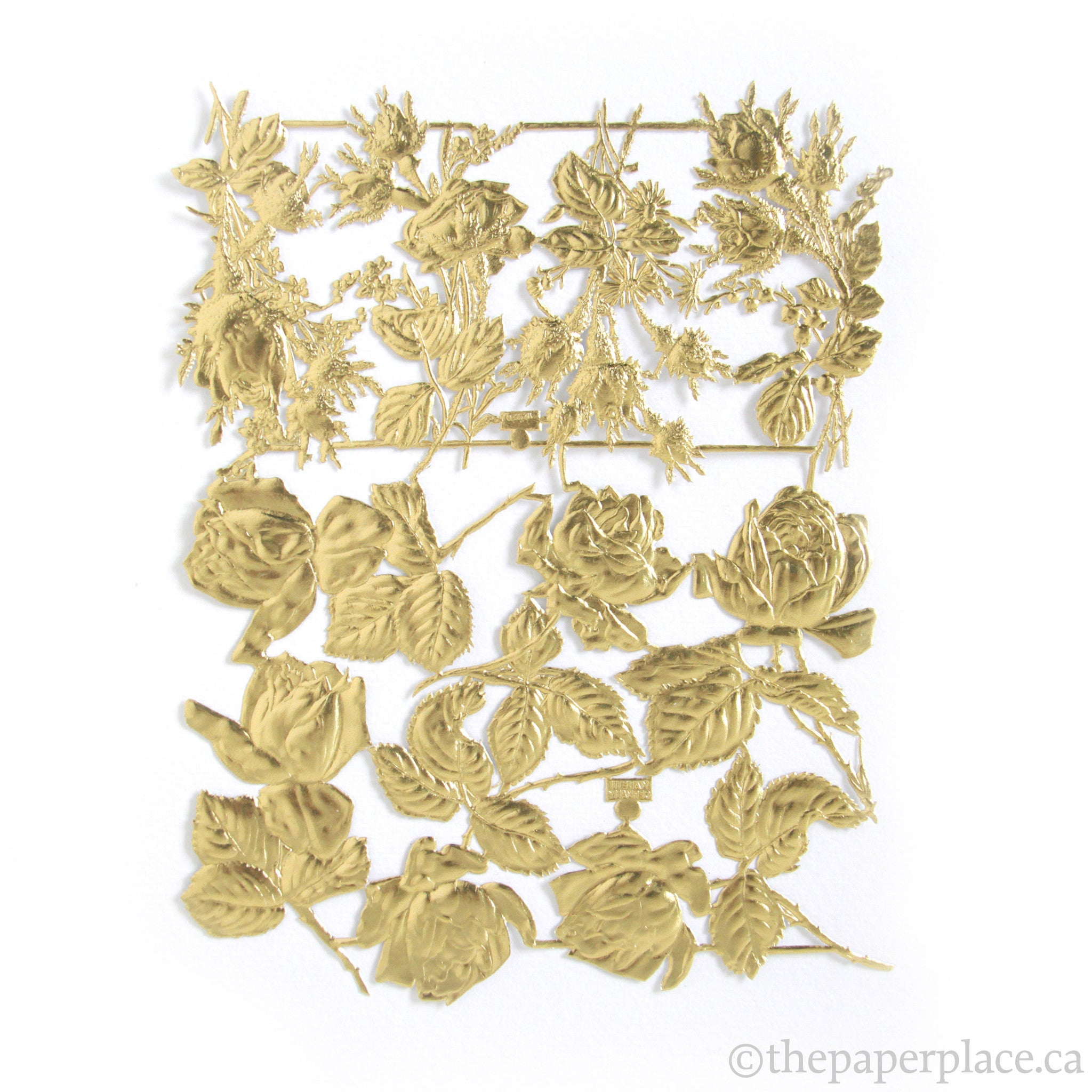 Dresden Trim - Roses - Single-Sided Gold