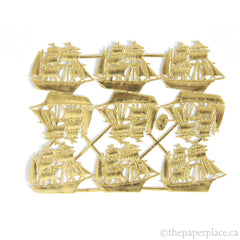 Dresden Trim - Sailing Ship - Single-Sided Gold