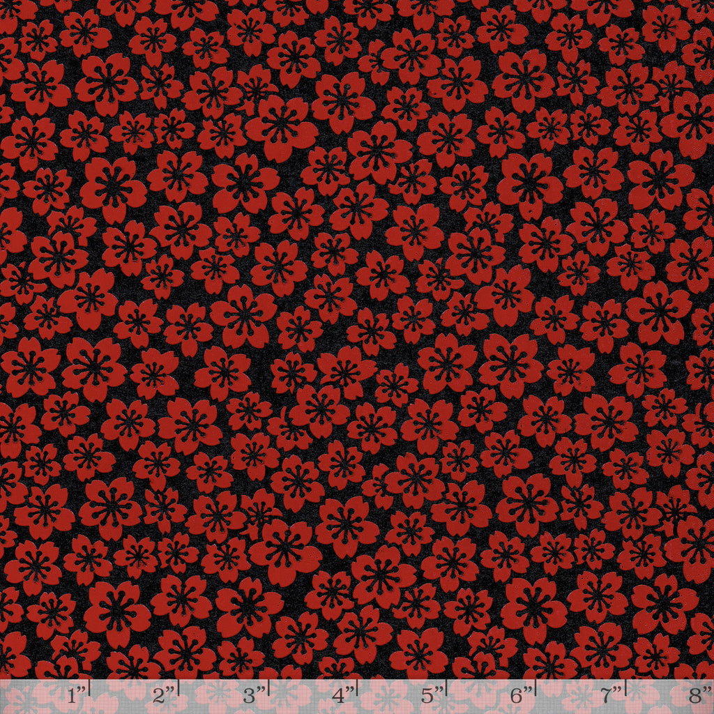 Lacquered Yuzen - Sakura Red Full/Half Sheet