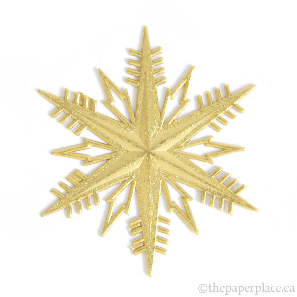 Dresden Trim - Snow Star - Double-Sided Gold