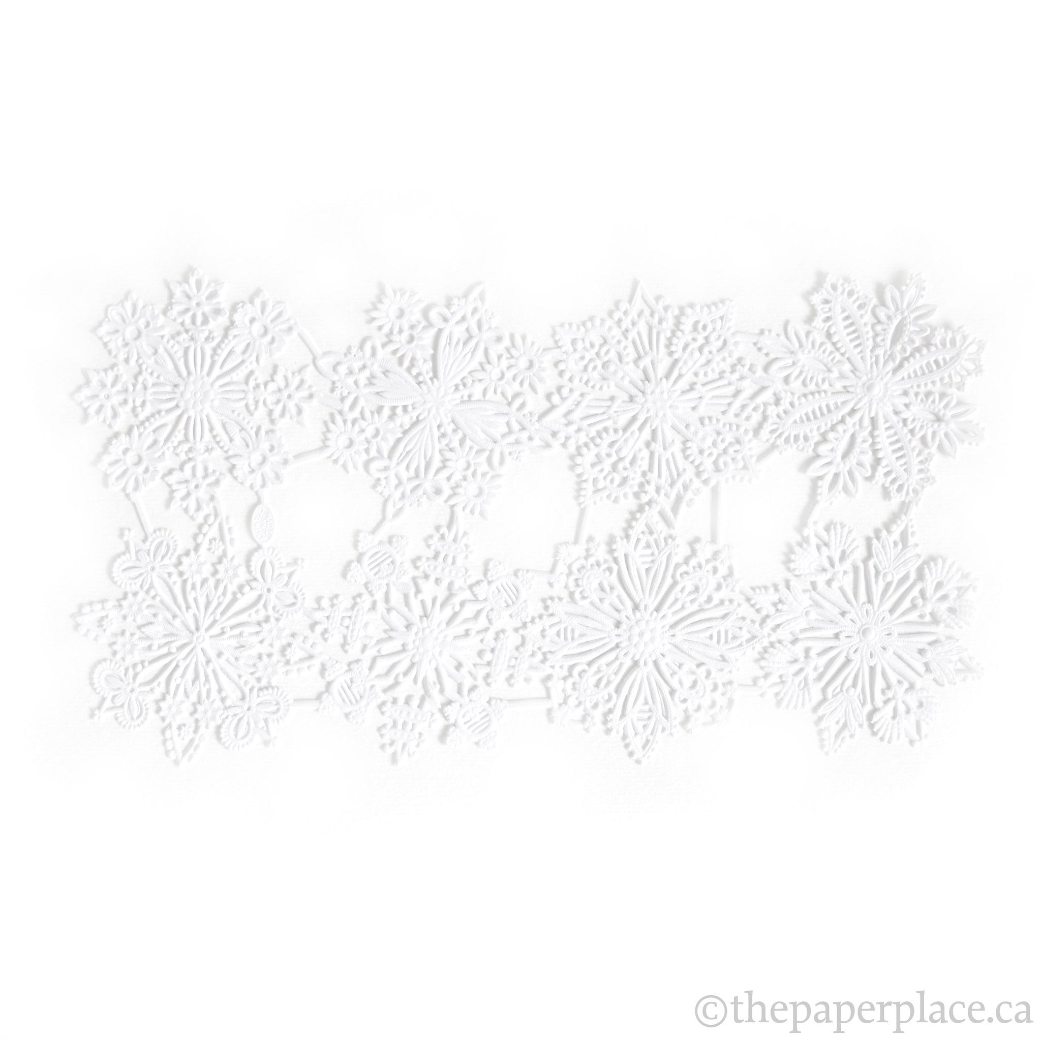 Dresden Trim - Snowflake - Double-Sided White