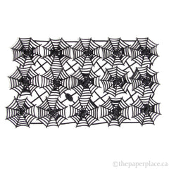 Dresden Trim - Spider Web - Double-Sided Black