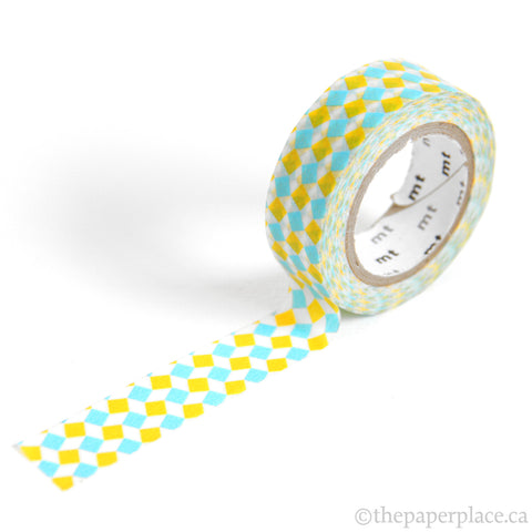 Square Yellow Washi Tape - 15mm