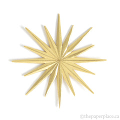 Dresden Trim - Star - Double-Sided Gold