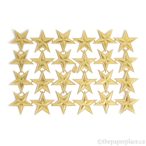 Dresden Trim - Stars - Double-Sided Gold