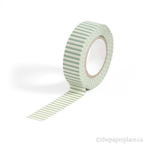 Striped Celadon Washi Tape - 15mm