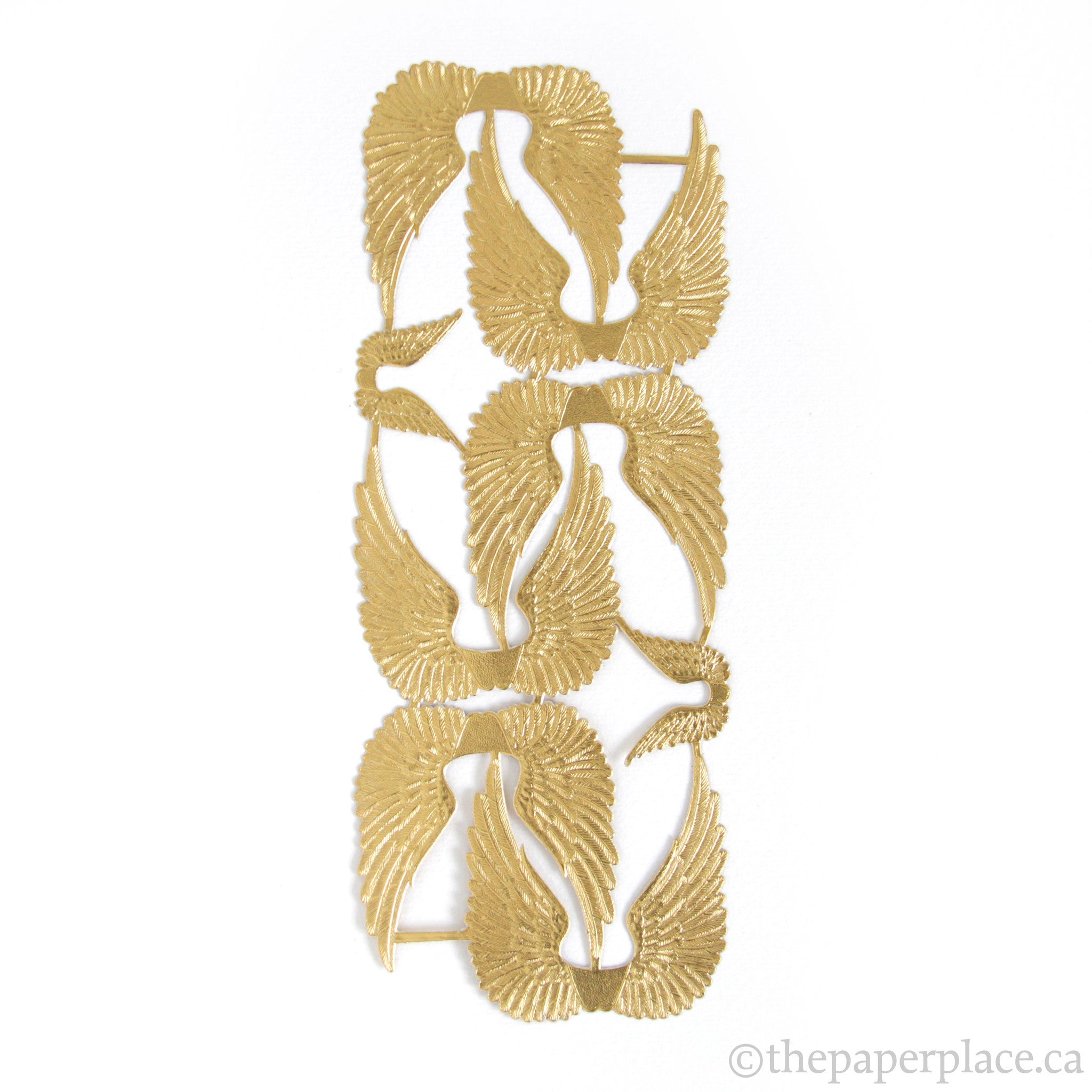 Dresden Trim - Swan Wings - Double-Sided Gold