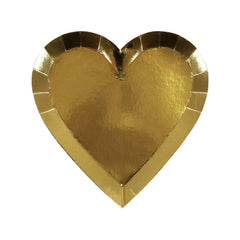 Gold Heart Plates (Small)