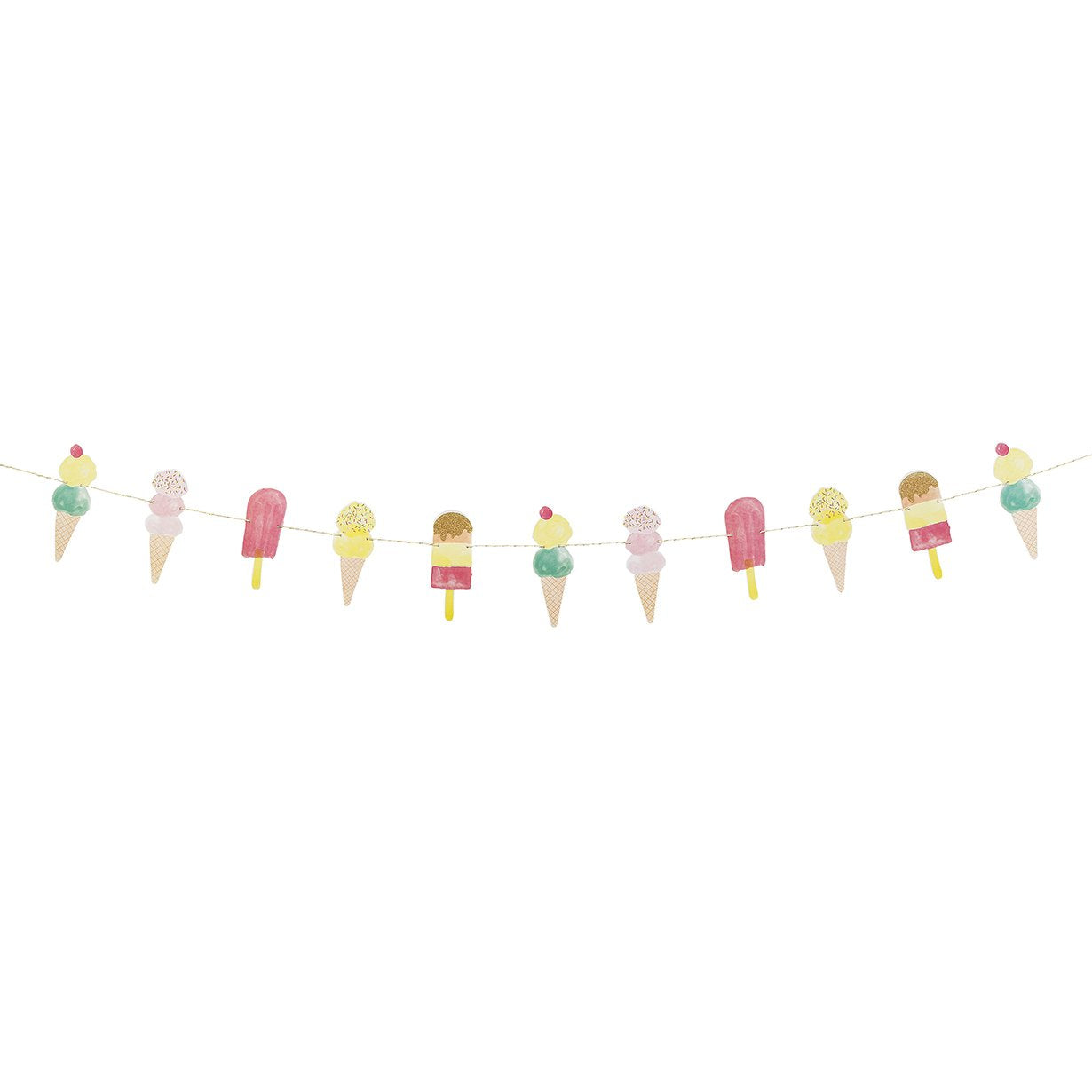 We Heart Ice Cream Garland