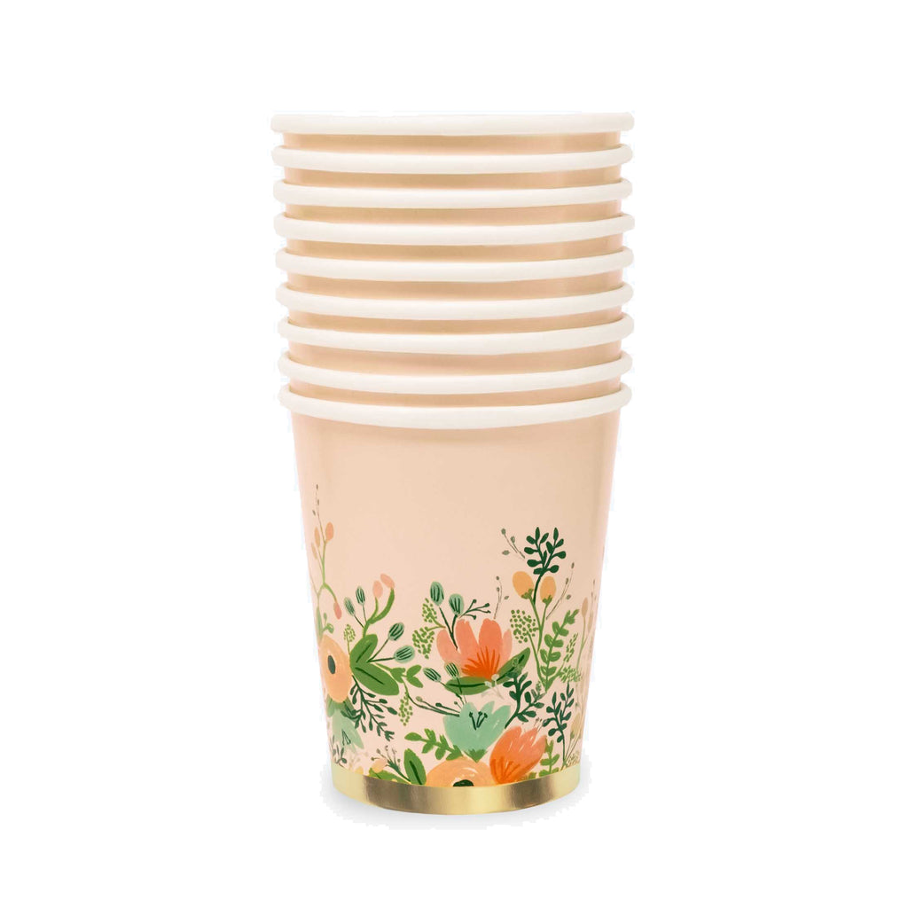 Wildflower Paper Cups, Set of 12