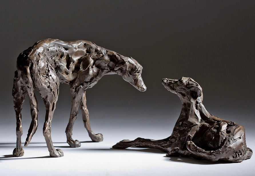 """Dominance"" - Pair of Lurchers"