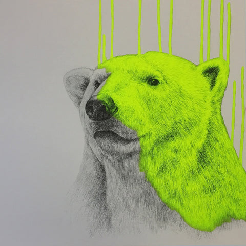 Hey There, Polar Bear (Neon Yellow).