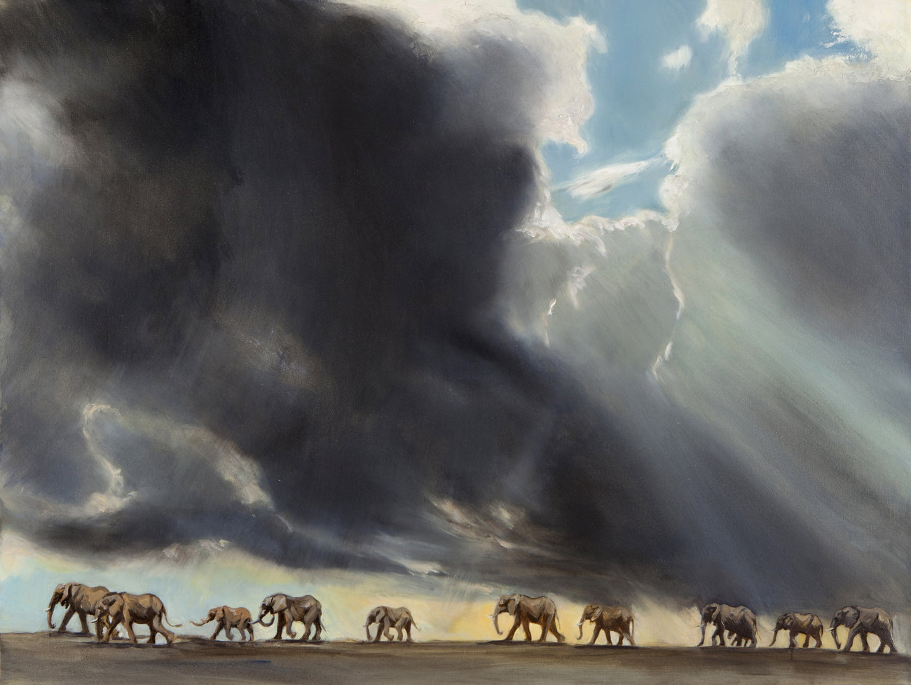 Elephants in the Storm