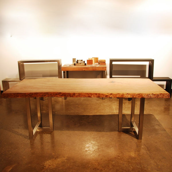 Custom Intersect Oak Dining Table