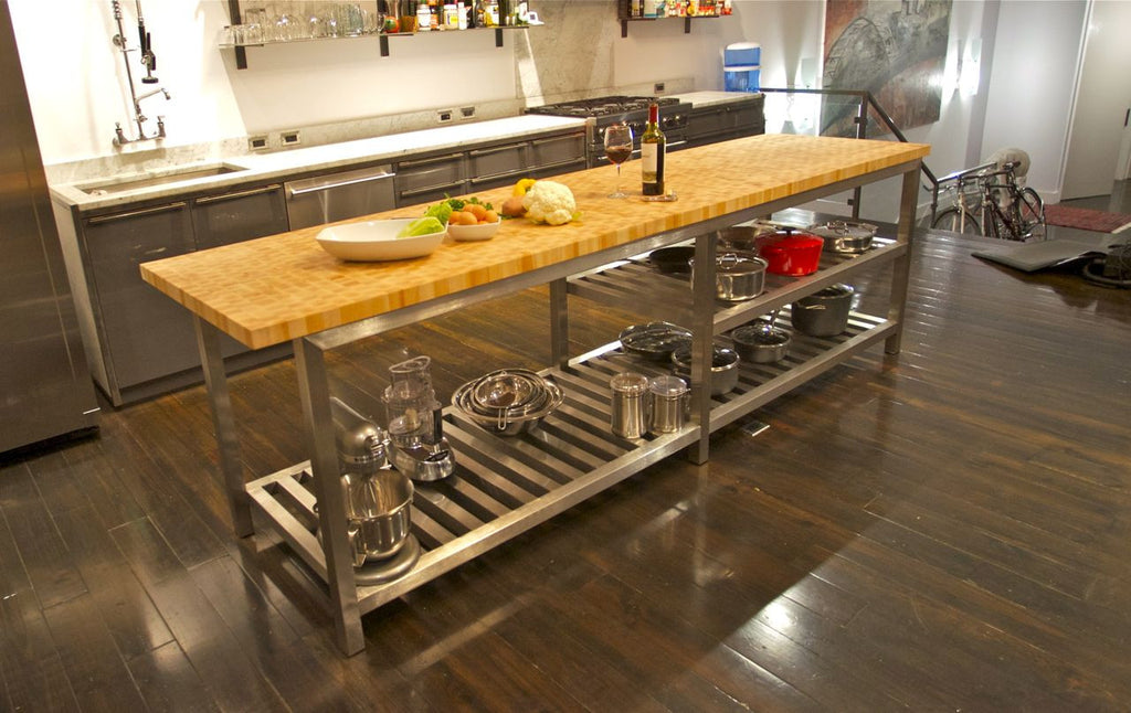 nice Butcher Block Stainless Steel Kitchen Island #6: Kitchen Island with Butcher Block Top