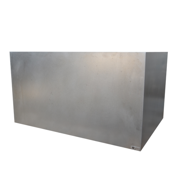"44"" x 30"" x 24"" Tall Stainless Steel Planter"