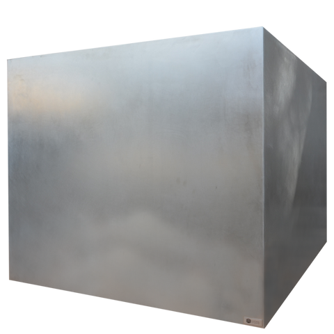 "44"" X 44"" X 36"" Stainless Steel Planter"