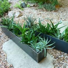 Table top steel planter