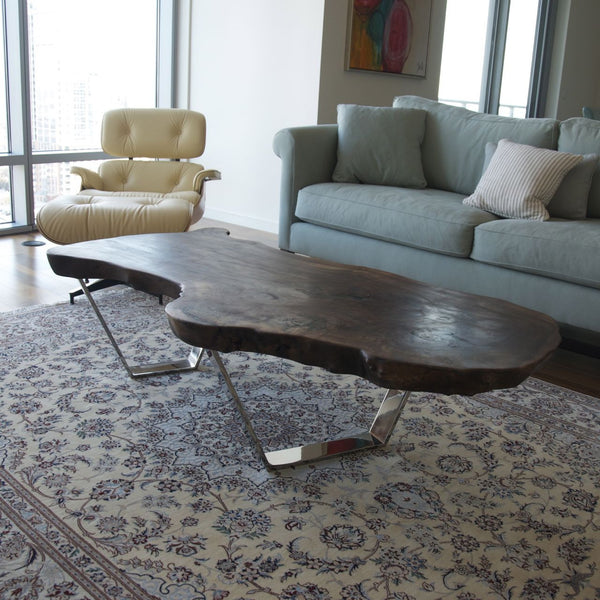 Bespoke Claro Walnut Slab Table