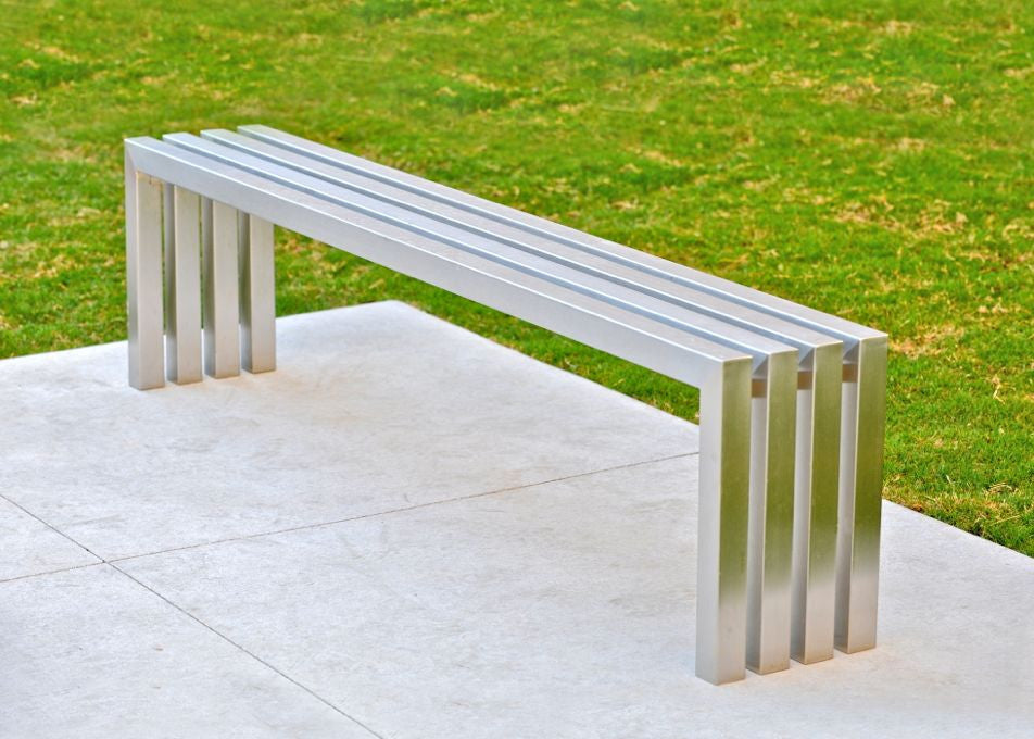 Linear Bench Modern Stainless Steel Bench