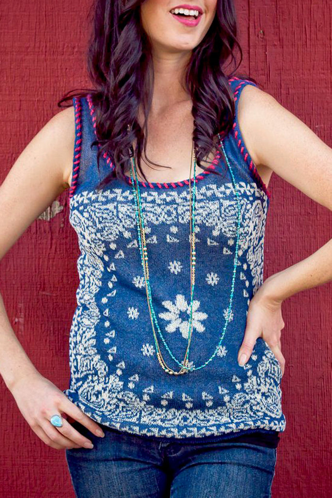 Bandana Sweater Tank