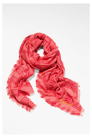 Turkana Scarf in Rose Red