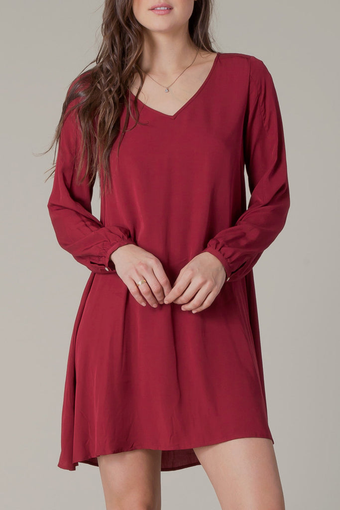 Malia Dress in Syrah