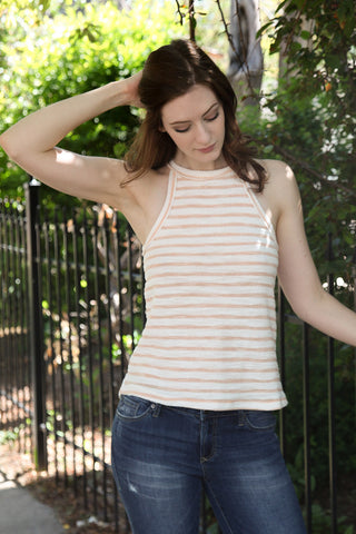 Mirasol Top in Peach Whip