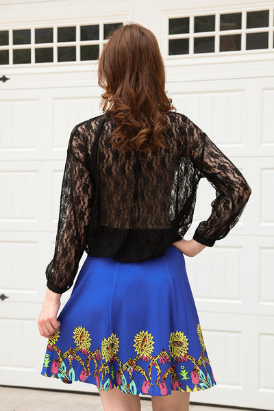 Henry Skirt in Azul Mineral