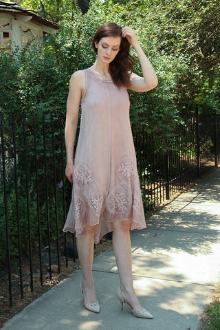 Laurel Dress in Rose Quartz